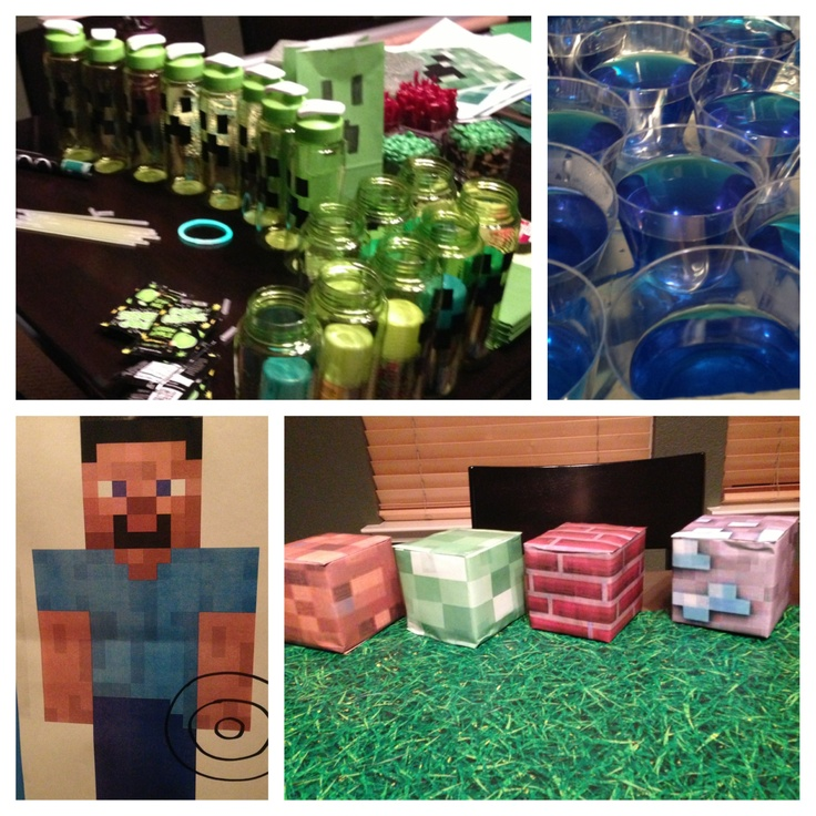 17 best images about minecraft birthday party on pinterest. Black Bedroom Furniture Sets. Home Design Ideas
