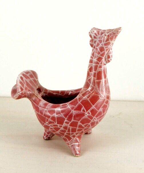 Gorka Géza ceramic rooster vase