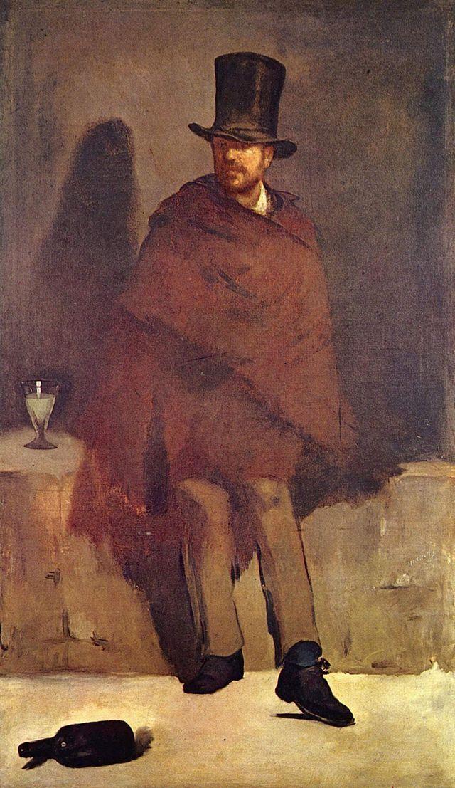 1. Inicio - Impressionismo - O Bebedor de Absinto. 1859. Artista: Édouard Manet. Stroeget, Museu de Arte de Copenhagen, Dinamarca.