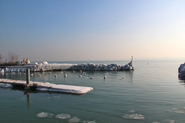 Winter time on the Lake Léman, in Tannay