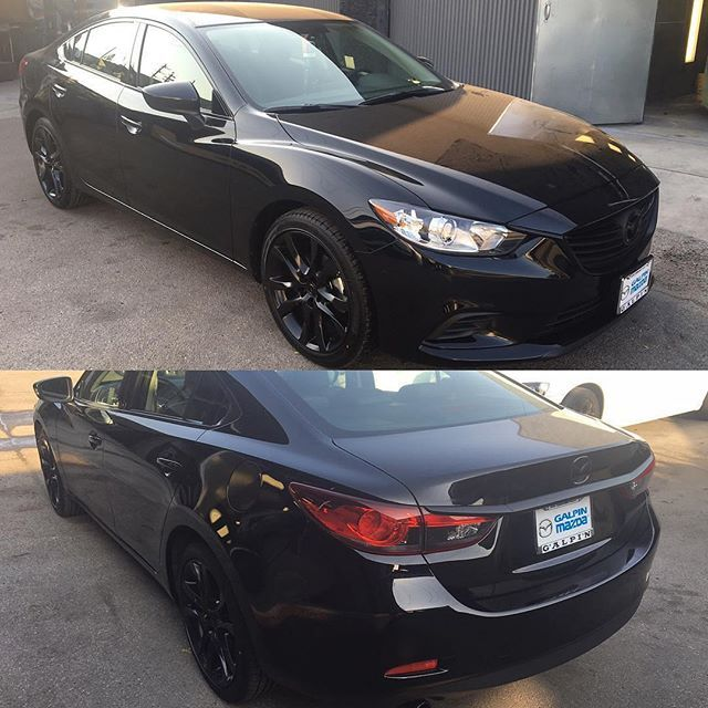 Mazda 6 complete chrome accents, wheels, and muffler tips dipped gloss black by…