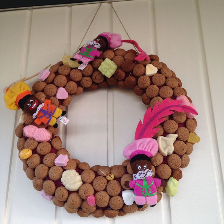 Sinterklaas, krans, DIY, pepernoten
