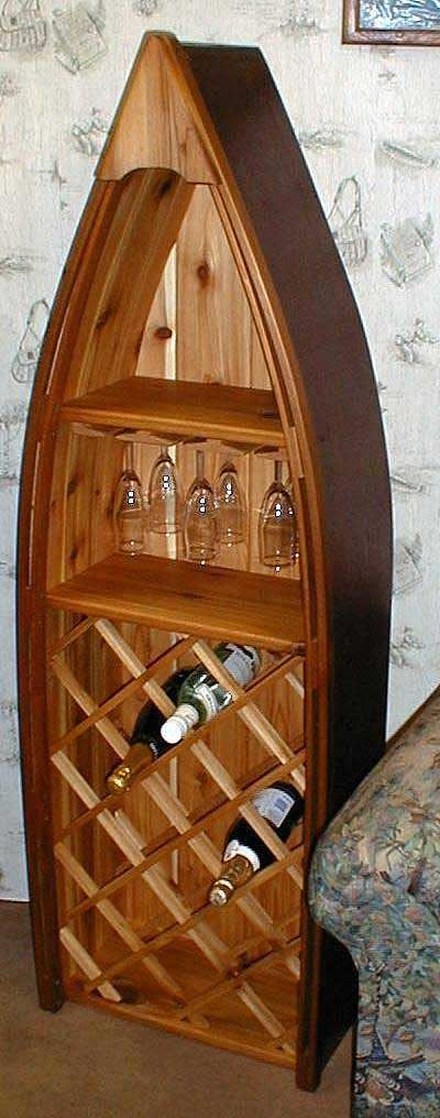 Boat Wine and Glass Rack...Trying to convince my husband to build this.