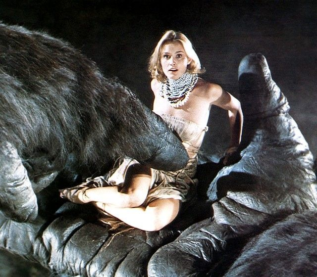 Jessica Lange getting tickled by King Kong