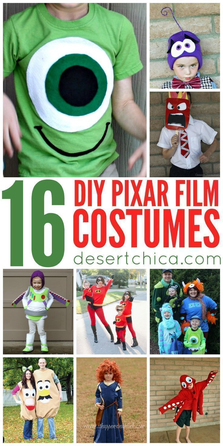 Everyone loves Pixar Films, so it's no surprise that they inspire lots of Pixar costumes each Halloween. Check out this round up of fun Pixar Costumes!