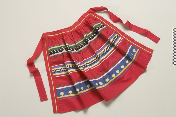 National Museum of the American Indian : Apron Date created:1965. Artists/Makers:Annie J. Frank, Seminole. Place:Big Cypress Reservation; Hendry County; Florida; USA. Media/Materials:Cotton cloth, thread. Techniques:Sewn, patchwork