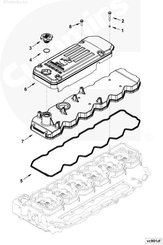 dodge 5 9l cummins valve cover bolts 3900633 3087740