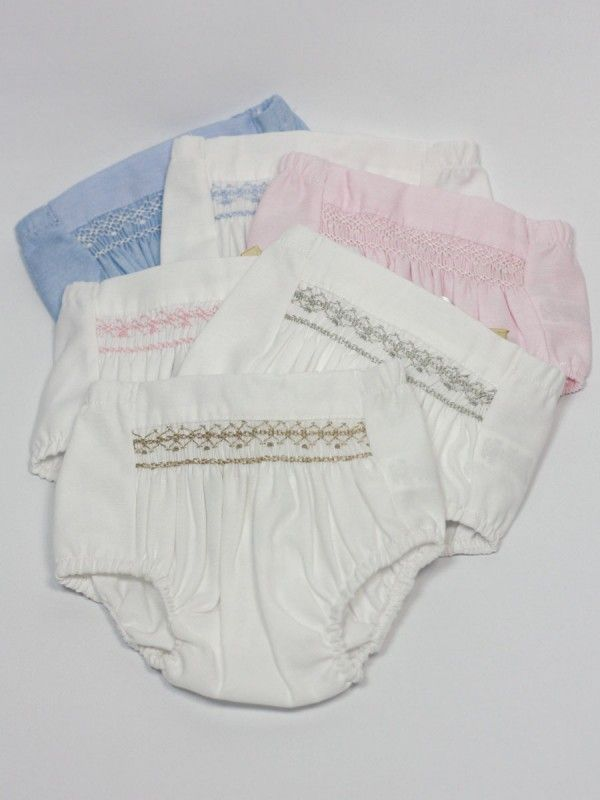 Lovely. Cut the diaper cover wider to make all those gathers, even if you don't smock them
