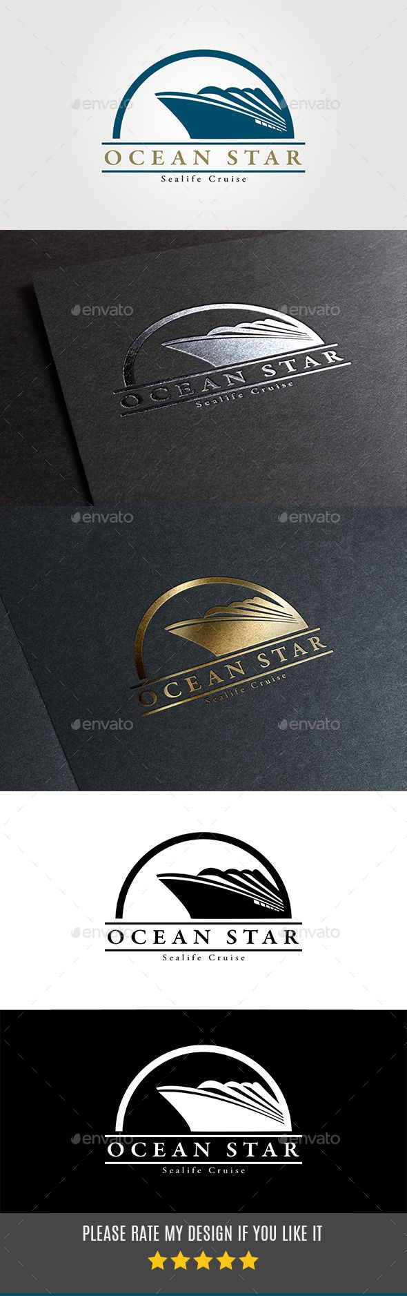 Ocean Travel and Cruise Logo vol.04 — Vector EPS #sail #navigate • Available here → https://graphicriver.net/item/ocean-travel-and-cruise-logo-vol04/10916931?ref=pxcr
