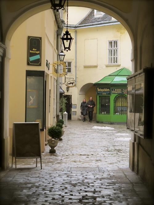 Pretty Cobbled Streets in Vienna