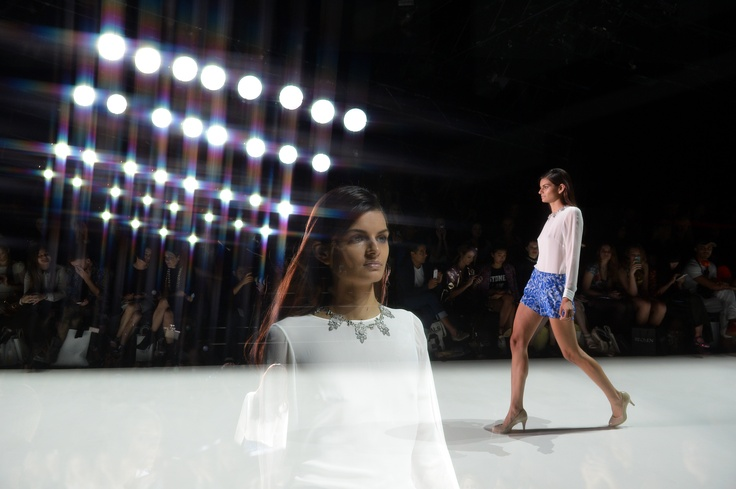 On the runway at Mercedes-Benz Fashion Week Australia