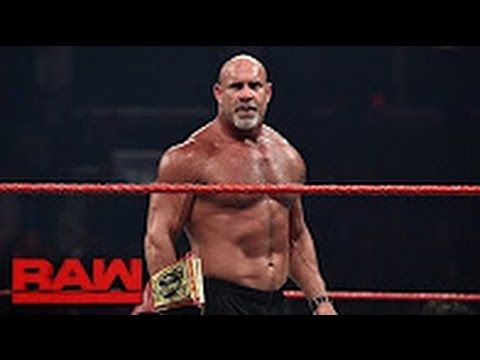 Goldberg meets Brock Lesnar face-to-face before WrestleMania: Raw, March...