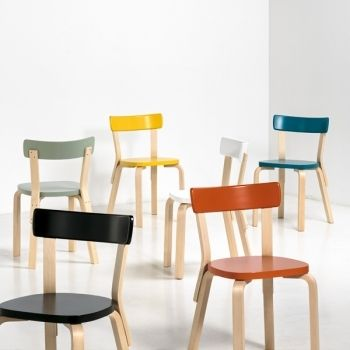 Aalto chair 69 by Artek in new colours.