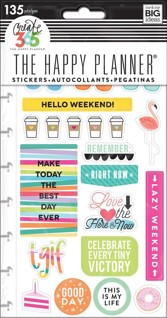 These stickers make it easy for you to customize your Happy Planner®, making everyday routines even more FUN. These stickers are designed to fit in the daily column of your weekly view in The CLASSIC