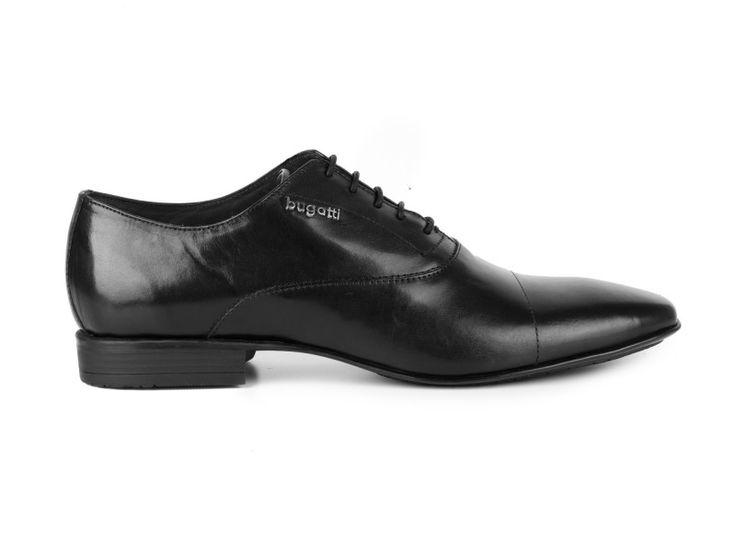 Bugatti - Kožené pánské polobotky Raphael U2603-1F / Černá | obujsi.cz - dámská, pánská, dětská obuv a boty online, kabelky, módní doplňky
