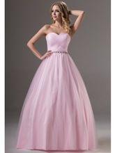 Einfache Rosa Rüschen Tüll Ballkleid Prom Kleider Schatz Korsett Bodenlangen Senioren Formale Abschlussball-partei Kleider Plus //Price: $US $132.33 & FREE Shipping //     #cocktailkleider