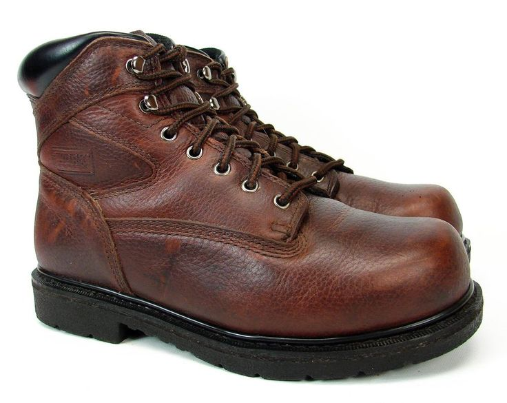 """RED WING WORX 6525 6"""" ANKLE SOFT TOE WORK BOOTS MEN'S SIZE 10 M BROWN LEATHER #RedWing #WorkSafety"""