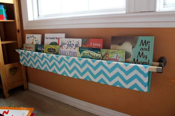 Clever and smart storage — Chevron Book Sling! $30  Looks like something I could make myself!
