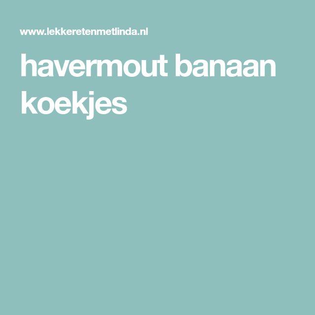 havermout banaan koekjes