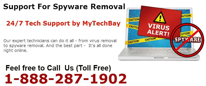 Have no fear, MyTechBay is here with Spyware Removal Services that makes your PC free of  spyware, malware, adware and virus problems.