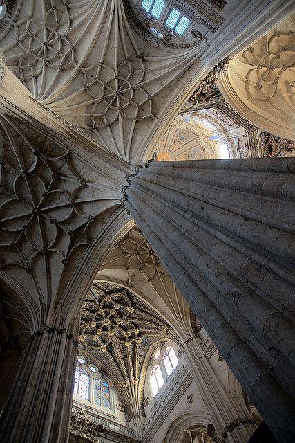 Catedral Nueva, Salamanca, Spain Gótico tardío, renacentista, barroco