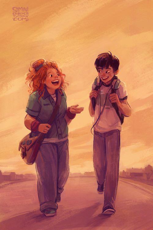 Eleanor dio un paso hacía él  –¿Tengo pinta de vagabundo?  –Peor aún –replicó Park –. De payaso vagabundo.  –¿Y a ti te gusta?  –Me encanta.  Nada más oírlo, Eleanor sonrío. Y cuando Eleanor sonreía algo se rompía dentro de Park. Algo se rompía siempre.    * Eleanor & Park (Rainbow Rowell) *     -- Definitivamente, una de las mejores historias ♥ --