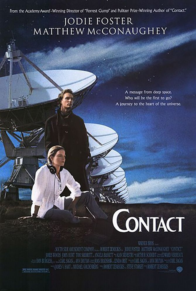 Contact - Review: Contact (1997) is a 2h 30-min American sci-fi drama mystery film that is an adaptation of Carl Sagan's… #Movies #Movie