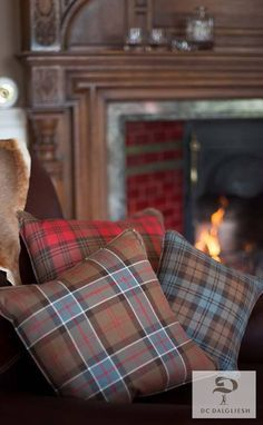 Give your home that Scottish Country feel with rustic reproduction tartans from DC Dalgliesh