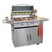Cal Flame A La Cart Plus 3-Burner Stainless Steel Gas Grill Cart