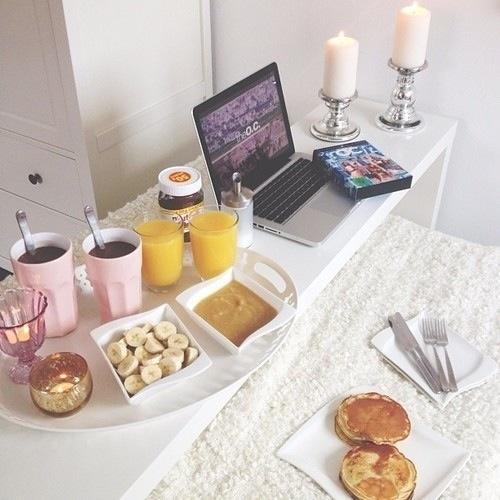 breakfast in bed.