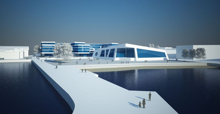 Aquarama Kristiansand.  Vinnerforslag konkurranse. Arkitekt: Erik Asbjørnsen