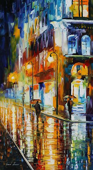 "Leonid Afremov - ""City of Rain"""