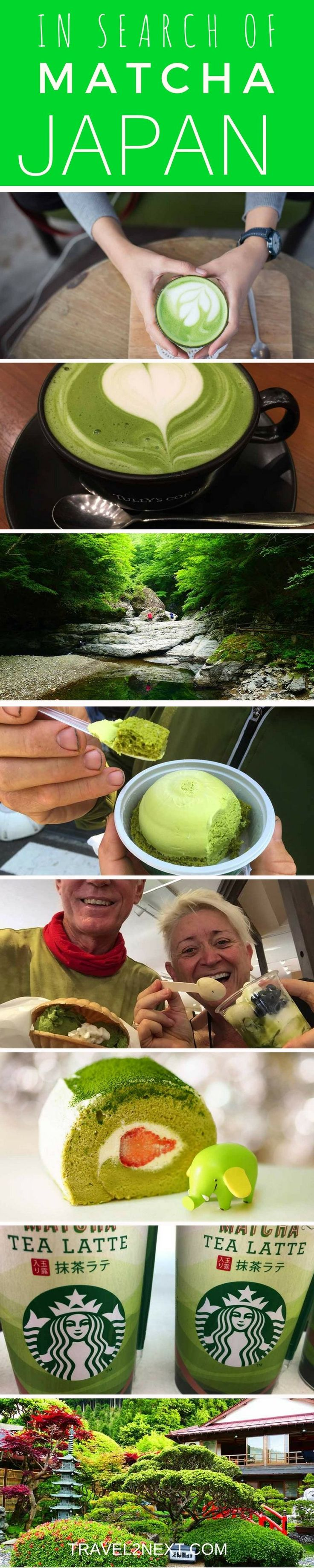 Japan Matcha Discovery. Learn about how to taste matcha  green tea and other matcha food in Japan.