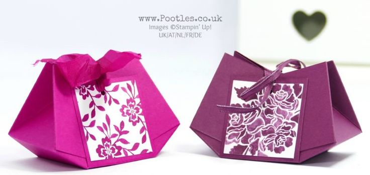 Stampin' Up! Demonstrator Pootles - No Glue Stitched Darling Bag.  Click through for more details and video tutorial!
