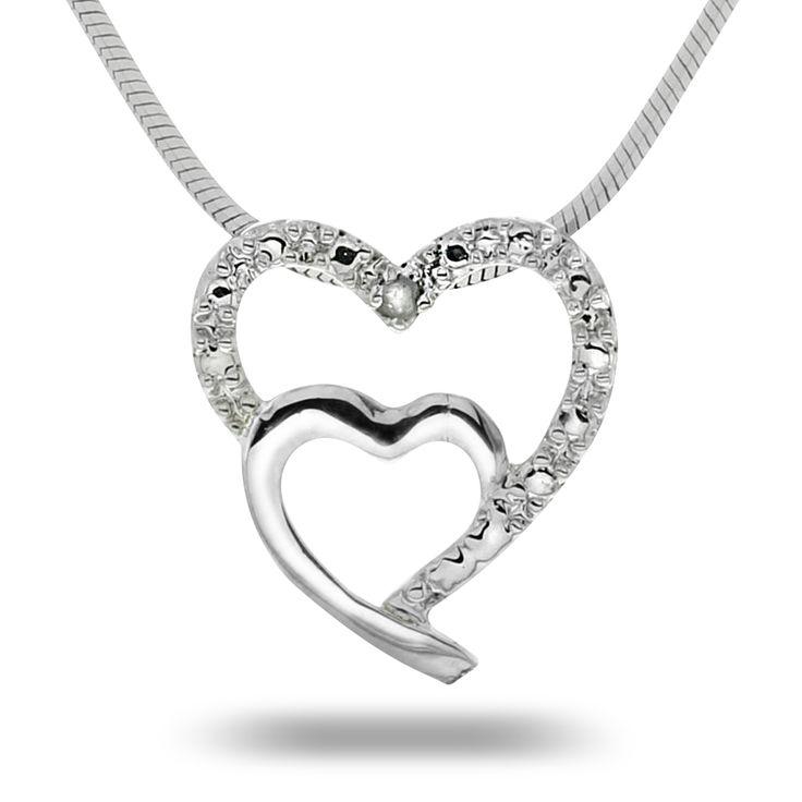 Smykke i sølv med diamant 0,01 ct. Kun kr 349,-