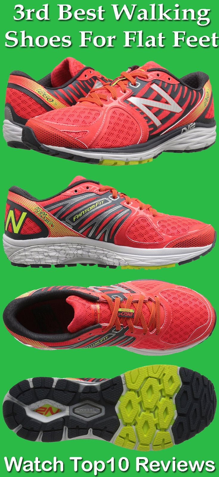 New Balance Men's M1260V5 is one of the best Walking shoes for Flat Feet.