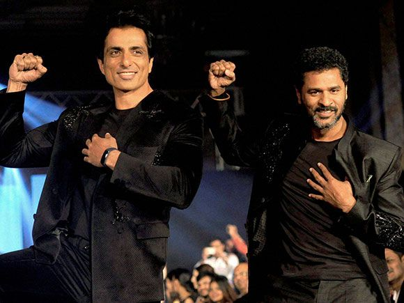 Sonu Sood and Prabhu Deva at the winter season fashion show