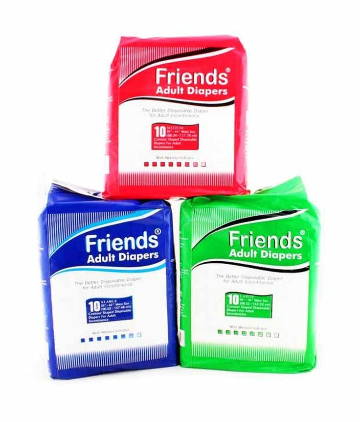 Friends Adult Diapers 10 Piece – Large Size With Multi-Strand Elastic @ Rs 312