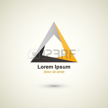 creative technology vector abstract triangle logo template