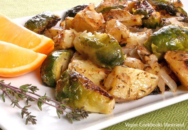 Vegan Cookbooks Illustrated: Brussels Sprout-Potato Hash