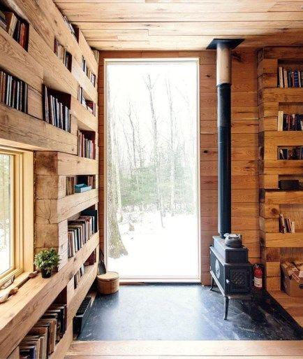 De muur van hout
