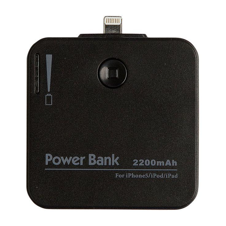 Mobiele oplader voor iPhone 5/C/S & 6 zwart | Xenos