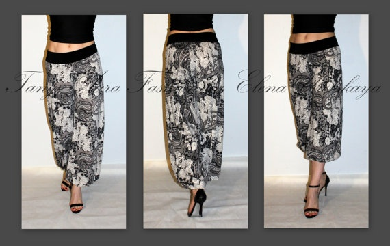 Comfy tango pants - I love that there is a basic print.