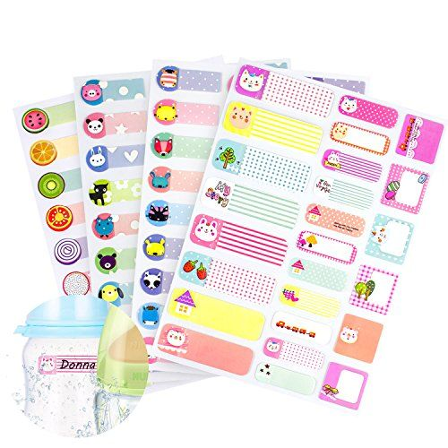 97 Pcs Waterproof Name Labels Stickers Tags Write-On Blank Name Badge, Baby Bottle Labels for Daycare Children Kids School, 97 Different Pattern Design (Pack of 4) - Is it still embarrassed of taking the wrong thing of others? Do you want to try some new things? Try our Name Label Stickers! ! ! Features: - Microwave proof with PVC material, Waterproof. - 4 pcs name label stickers, 1 pcs is about 22 labels. A total of 97 pcs. - Can write name or tips. - Handwr...
