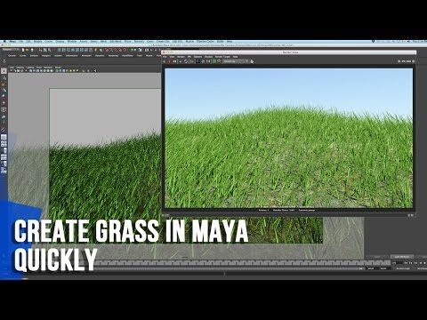 Maya Grass Tutorial: How To Create Grass In Maya - Quickly