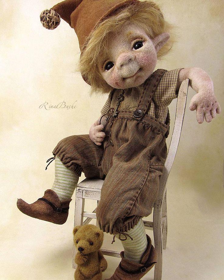 Rina Bushe - Эльф Тим. #elefant #handmade #needlefelting