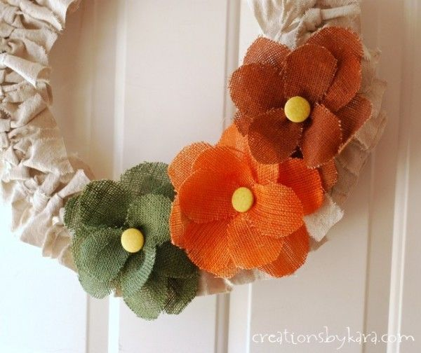 çuval kumaşla çiçek yapımı - Google Arama