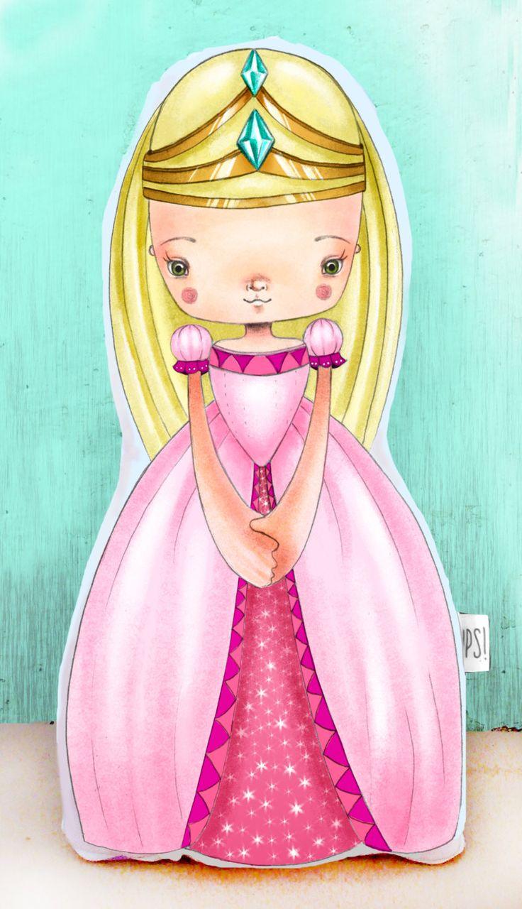 Muñeca Princesa -  Princess doll de JessicaIlustradora en Etsy