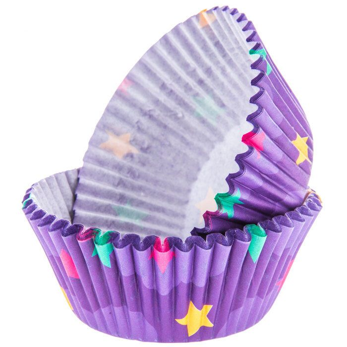 Purple Star Baking Liners Star Cupcake Wrappers Star Cupcake