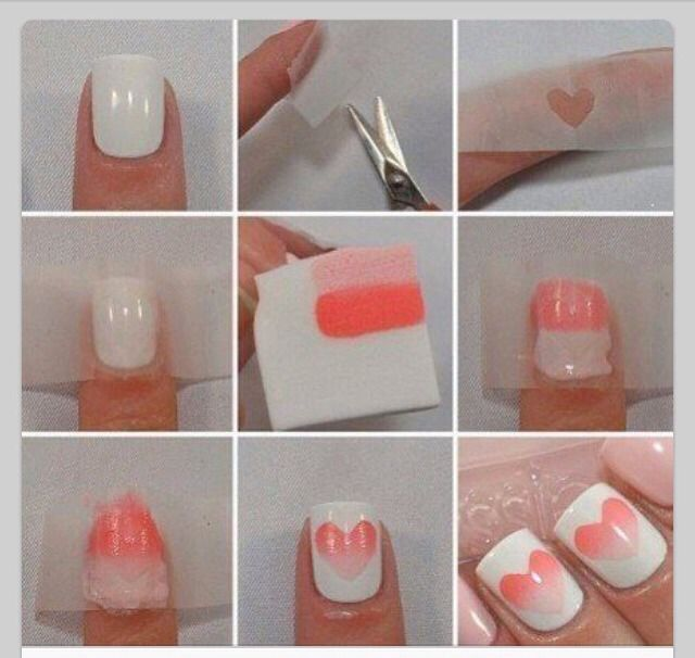 DIY Valentine Ombré Nails